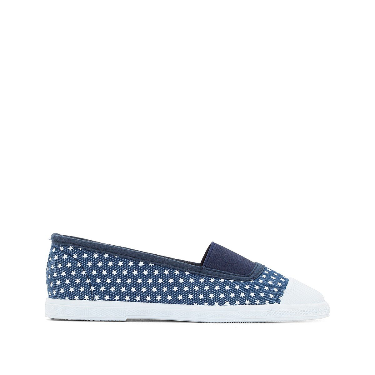 La Redoute Collections Big Girls Star Print Trainers Blue Size 35 (2.5 to 3)