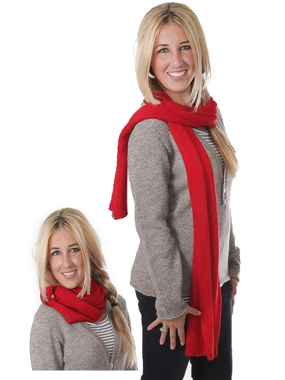 Unisex 100/% Baby Alpaca Wool 2-in-1 Convertible Infinity Circle Scarf