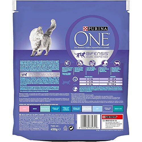 Purina One Sensitive Cat - Comida de gato con pavo y arroz, 450 g: Amazon.es: Productos para mascotas
