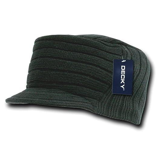 bdf31b64 Decky Inc Cadet Flat Top Acrylic Winter Beanie Skull Hat 963 Black at  Amazon Men's Clothing store: