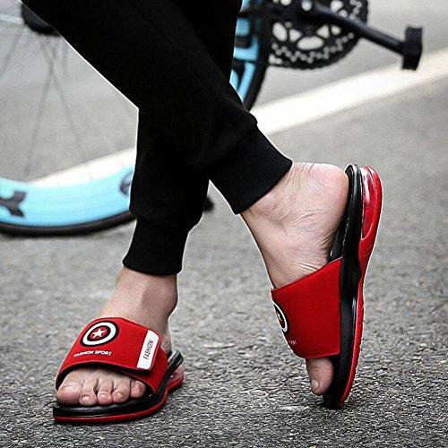 GLTER Hombres Punta Abierta Al Aire Libre Sandalias Alfombras De Playa Zapatillas Zapatos Antideslizantes Red