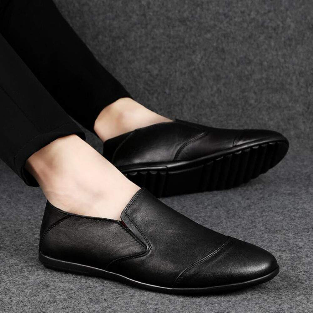 Hy Herrenschuhe, Herrenschuhe, Herrenschuhe, Leder-Frühlings-Neue Loafers & Slip-Ons Outdoor-Casual-Schuhe, Light Soles Comfort Driving schuhe Tide Mens Schuhe,schwarz,45 ff0bf1