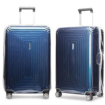 Cubierta de la maleta para Samsonite Neopulse Spinner PVC transparente Transparente viaje de equipaje Trolley Case Cover Protector: Amazon.es: Equipaje