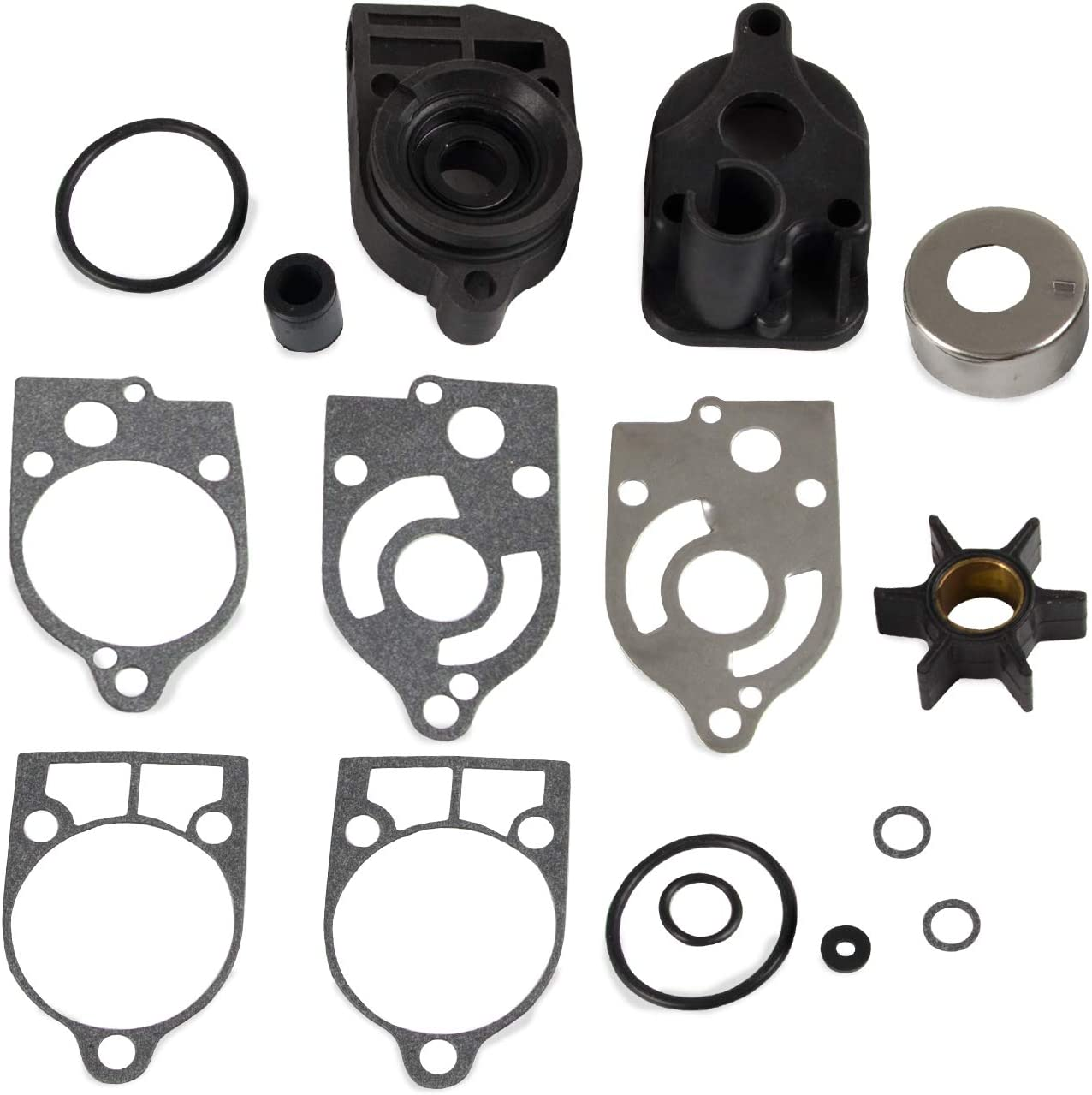 Water Pump Housing Repair Kit Compatible with Mercury Marine 46-77177A3, Fit for 30 HP - 70 HP, Sierra 18-3324
