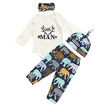 a23a63f81a1 Amazon.com   4 PC Clothing Set for Boys Girls