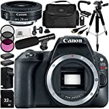 Canon EOS Rebel SL2 DSLR Camera with EF-S 24mm f/2.8 STM Lens 14 Accessory Bundle – Includes 32GB SD Memory Card + 2x Replacement Batteries + MORE - International Version (No Warranty)