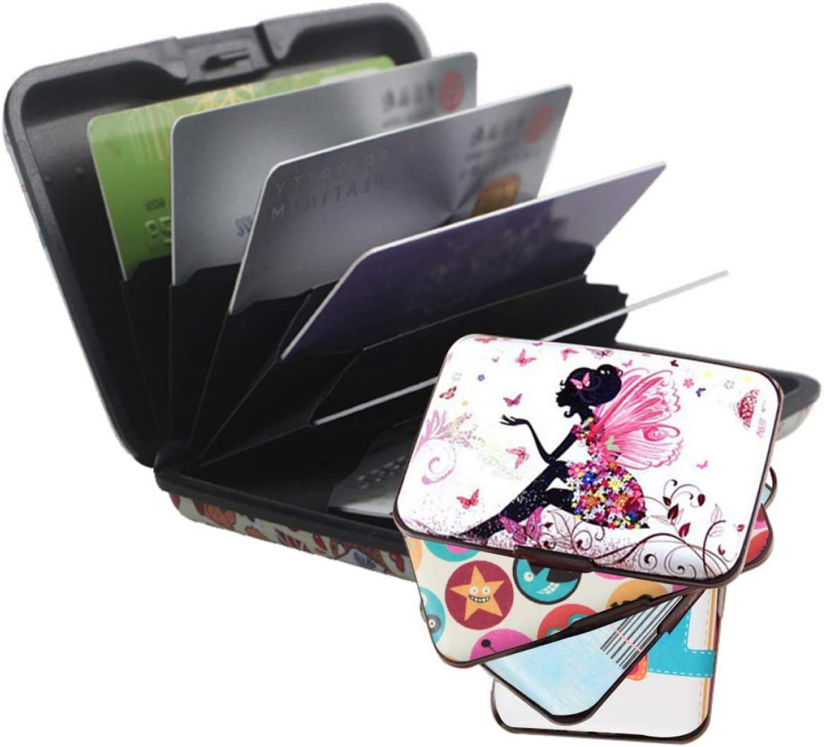 KJweitian Porte-Cartes color/é en Aluminium pour Homme et Femme