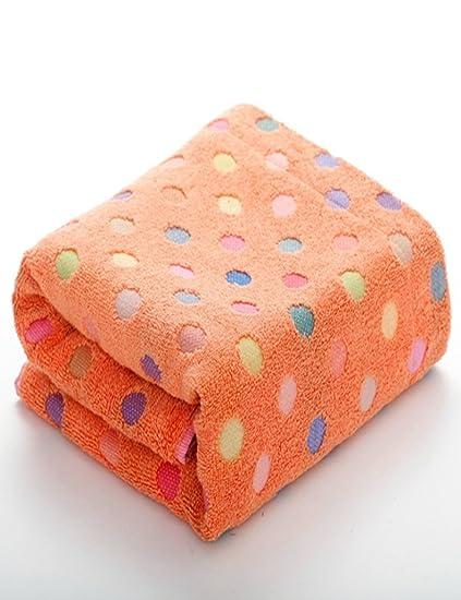 Toalla de algodón Simple Absorbente Toallas Suaves Grandes Color Pequeño Punto Espesar Toalla de baño 70