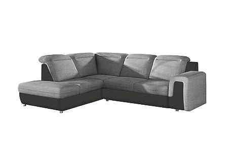 Amazon.com: EQsalon Nicola Modern L-Shaped Sectional Sofa ...