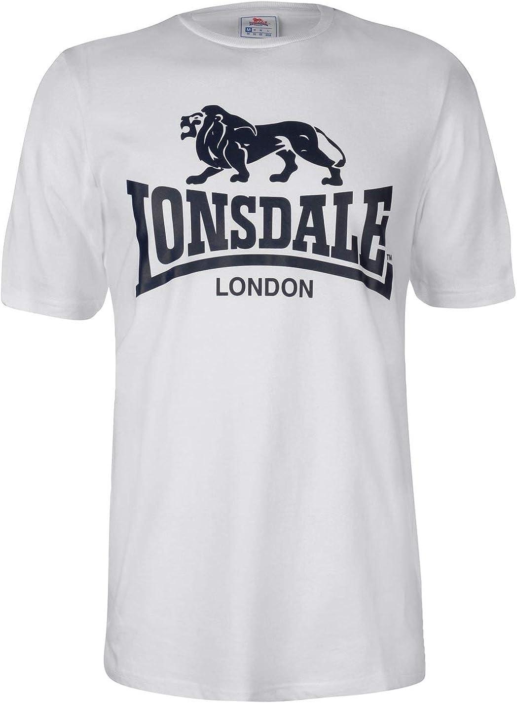 Lonsdale Hombre Large Logo Camiseta Manga Corta: Amazon.es: Ropa y ...
