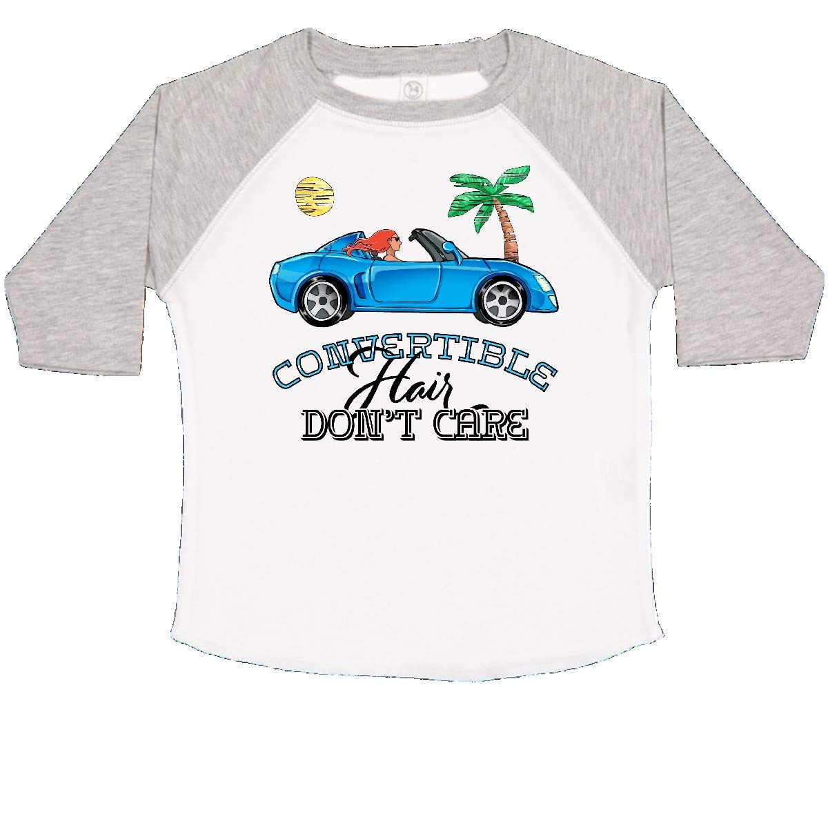 inktastic Convertible Hair Dont Care with Red Hair and Blue Car Toddler T-Shirt