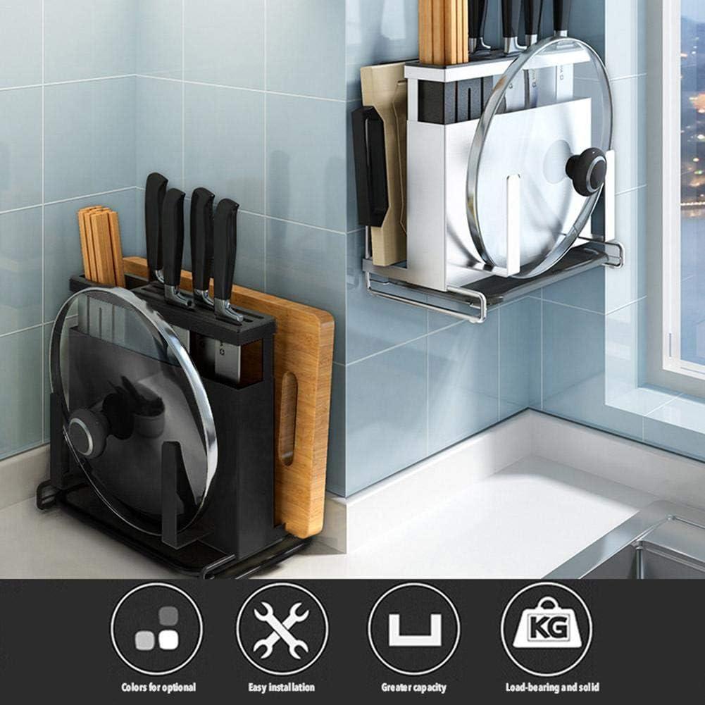 soporte para tablas de cortar de acero inoxidable tabla de cortar Soporte de cocina sin agujeros soporte para cuchillos dise/ño total