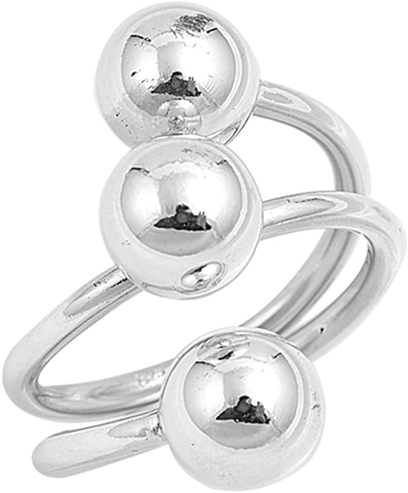 Minimalist Thin Ring 925 Sterling Silver Rings 925 Silver Adjustable Rings Stacking Rings Double Silver Ball Ring Ball Ends Open Ring