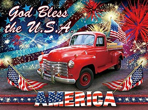 専門ショップ God Bless the USA 1000 pcジグソーパズルby : Artist : Artist Greg USA Giordano B07CK7246N, ワケグン:3b35cbbd --- fenixevent.ee