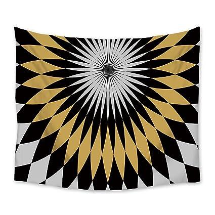Tapiz colgante de pared étnico tribal navajo patrón con adornos azteca abstracto geométrico grande pared arte