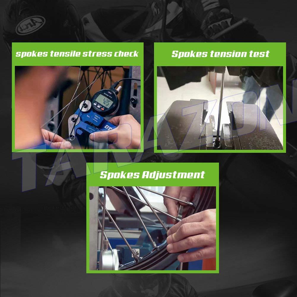 TARAZON 19 x 2.15 MX Rear Complete Wheel Kit Rim Spokes Gold Hub for Suzuki RMZ250 2007-2017 RMZ450 2005-2017 by TARAZON (Image #4)