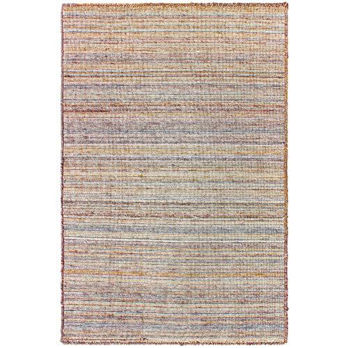 Liora Manne DKT23614722 6147/22 SISAL Dakota Casual Stripe Indoor/Outdoor Rug, 2' X 3', Khaki
