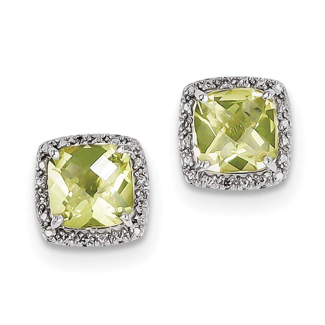 ICE CARATS 925 Sterling Silver Lemon Quartz Diamond Post Stud Ball Button Earrings Fine Jewelry Gift Set For Women Heart