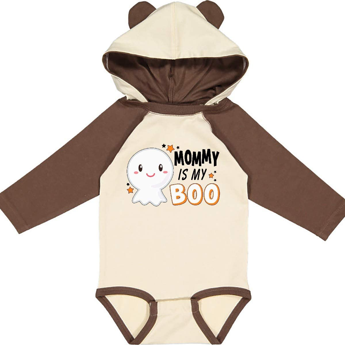 inktastic Mommy is My Boo with Cute Ghost Long Sleeve Creeper