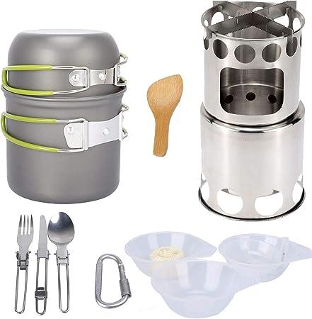 13 piezas de utensilios de cocina para acampar, Kit de cocina ...