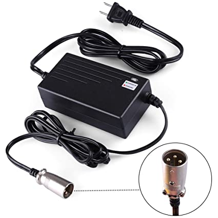 LotFancy 24V 2A Battery Charger for Electric Scooter, Wheelchairs, on