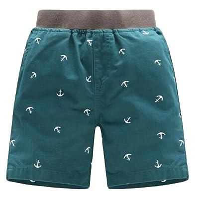 CMC Boy's Print Baggy Elastic Waist Thin Sunner Active Cotton Shorts