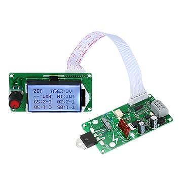 KKmoon Tablero del Módulo de Control de Tiempo de la Máquina del Soldador de Punto del Codificador del Pulso del Doble de 40A/100A Digital LCD: Amazon.es: ...