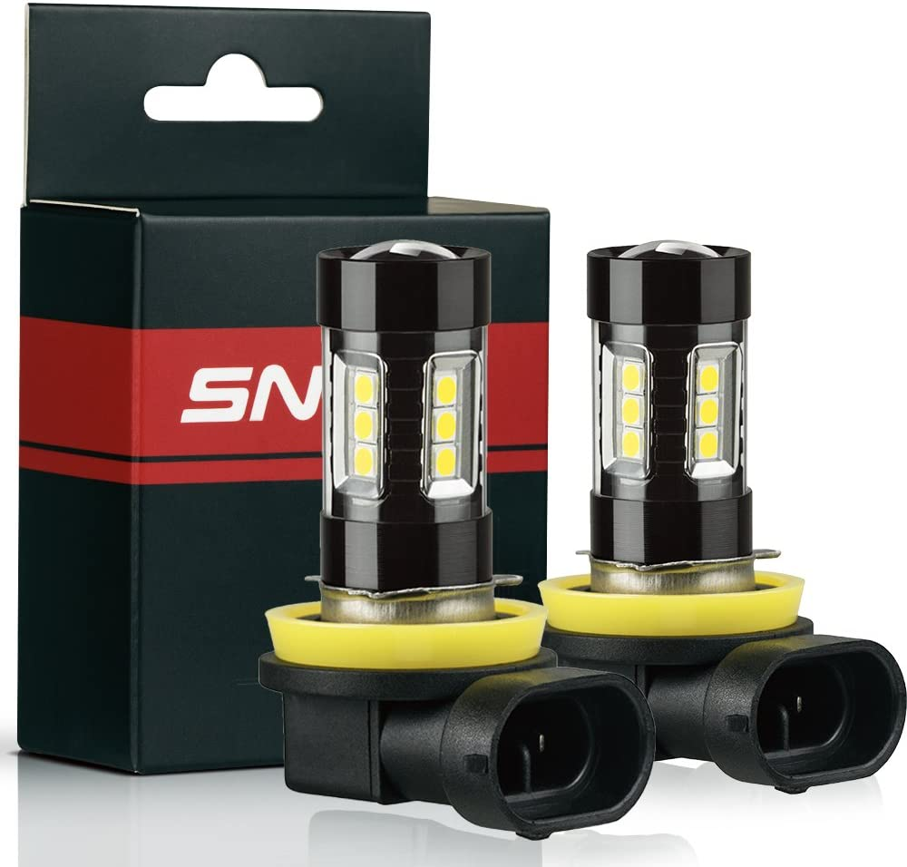 3000K Gold Yellow Plug-and-Play Pack of 2 SNGL Super Bright High Power 2504 PSX24W LED Bulbs for Fog Lights