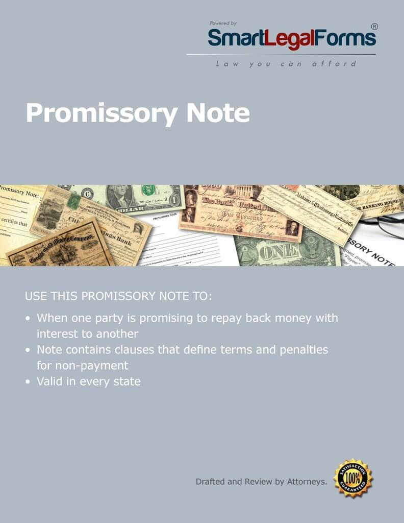 Promissory Note [Instant Access] by SmartLegalForms, Inc.