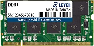 LEVEN DDR1 1GB (1GB×1) 400MHz PC3200 Non-ECC SODIMM PC Computer Laptop Memory Module Ram Upgrade- (JR1S400172108-1M)