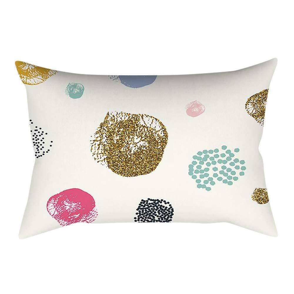Pgojuni Rectangle Merry Christmas Pillow Case Sofa Waist Linen Blend Pillow Cover Cushion Cover Home Decor 1pc 30cmx50cm (A)