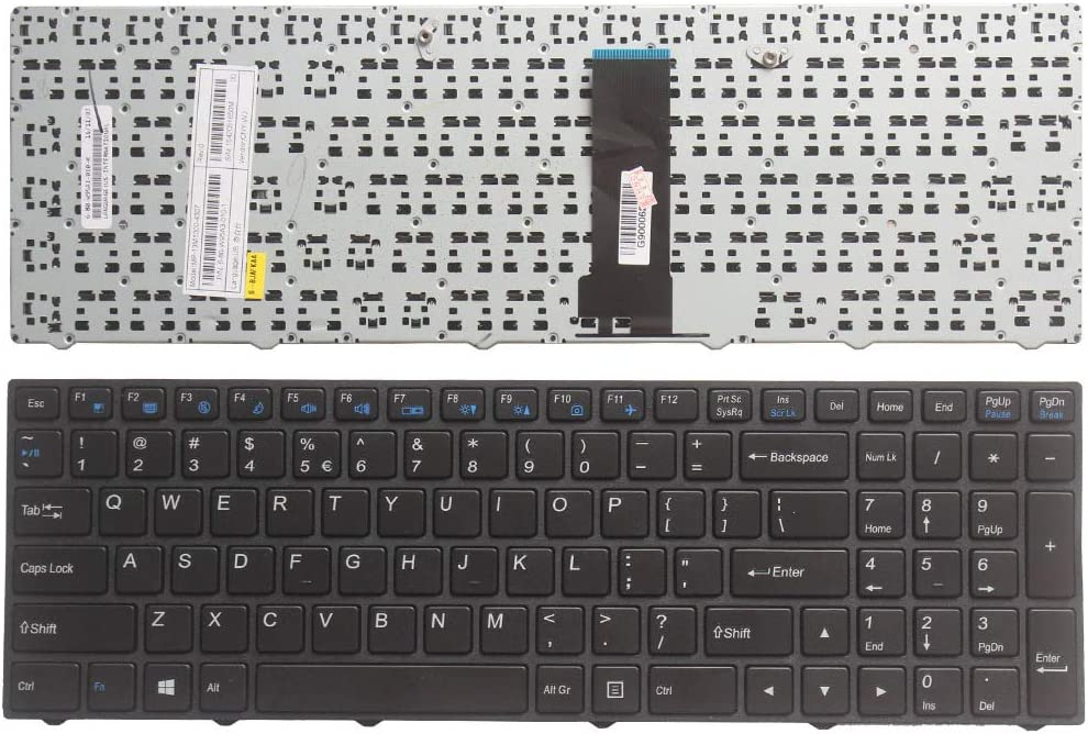 Laptop Keyboard for CLEVO W258EUQ W258EZQ W258HPQ W258HPW W258HSQ W258HNQ W258HTQ W258HUQ W258HUQ-C W25ABL W25ABZ W25ACU India in Without Frame