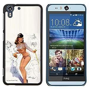 Stuss Case / Funda Carcasa protectora - Modèle Lingerie Sexy Legs sein - HTC Desire Eye M910x