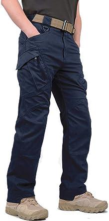 Kefitevd Cargo Pantalones Hombre Pantalones Tacticos Hombre Pantalones Al Aire Libre Pantalones De Caza Ripstop Pantalones Militares Pantalones Militares Amazon Es Ropa Y Accesorios