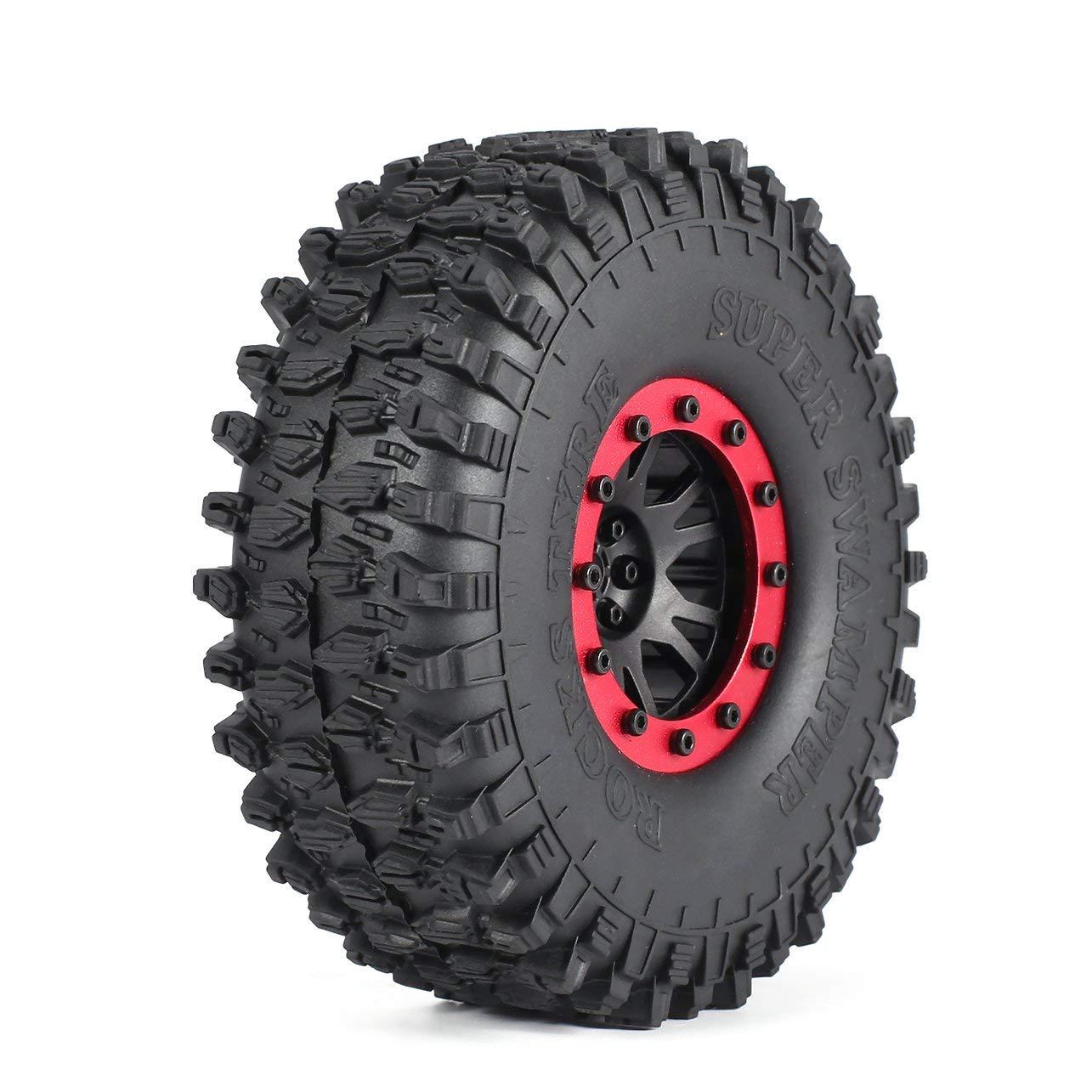 Color: rojo 4pcs AUSTAR 5020 120mm 1.9in Llanta Ruedas neum/áticos para 1//10 RC Crawler Car
