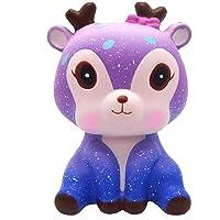 Squishies Jouets, Kawaii Galaxy Cerf Parfumée Squishy Charm Simulation Lente Rising Kid Jouet Cellulaire Clé Téléphone Pendentif Bracelet Cadeau Home Décor