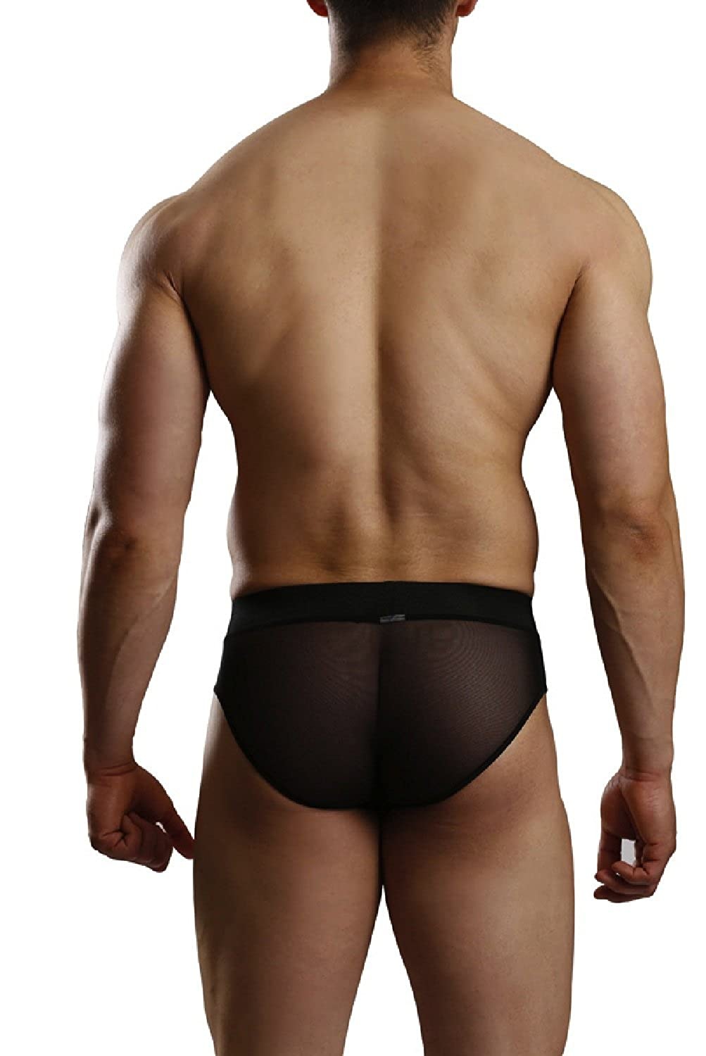 Mens Black Brief with Mesh Back