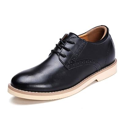 LEDLFIE Chaussures en Cuir pour Hommes Chaussures Décontractées pour Hommes Mode Joker Chaussures en Cuir pour Hommes,Black-38
