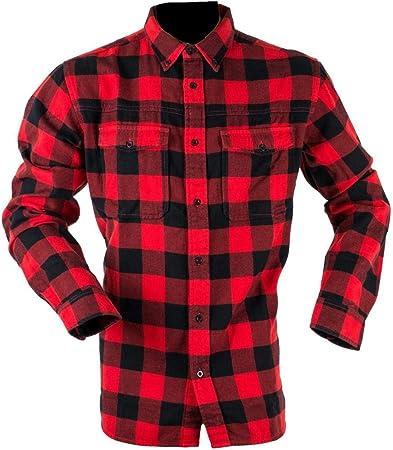 Ridgeline Camisa clásica a cuadros roja y negra camisas y tops para hombre