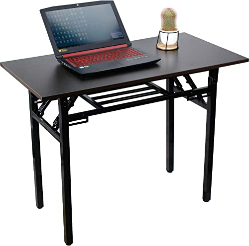 Folding Writing Computer Table Desk,No Assembly Required,Sturdy and Heavy Duty Modern Simple Work Study Desk Laptop Table