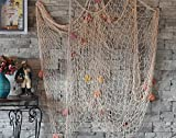 Decorative Fish Net White Yagote Mediterranean Style Nautical - Best Reviews Guide