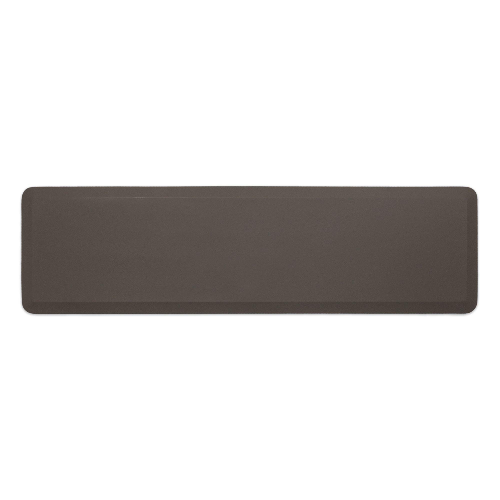 "NewLife by GelPro Professional Grade Anti-Fatigue Kitchen & Office Comfort Mat, 20x72, Stone ¾"" Bio-Foam Mat with non-slip bottom for health & wellness"