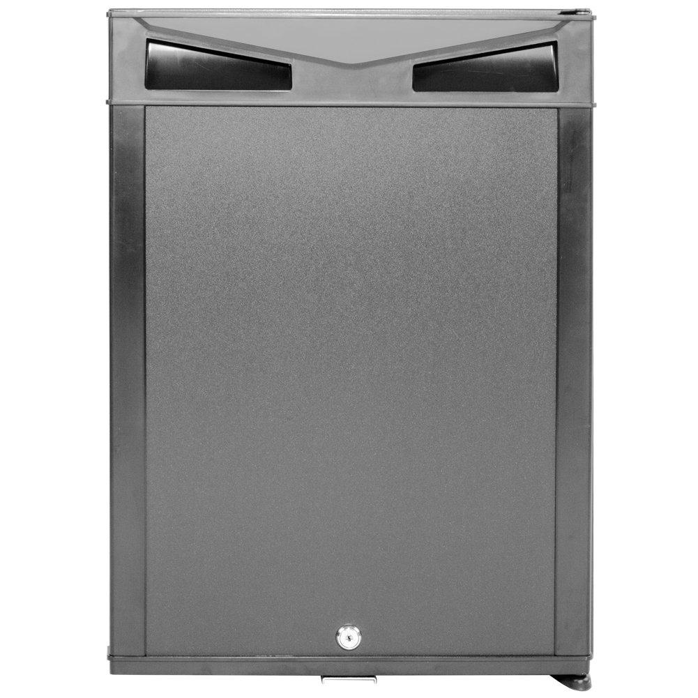 SMETA Mini Fridge Portable Absorption Refrigerator for Bedroom Quite Operation,with lock,110V/12V