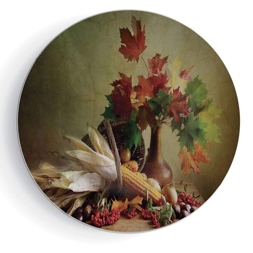 """iPrint 7"""" Harvest Photograph from Death of The Nature Season Fall Vegetables and Leafs Wooden Table"""