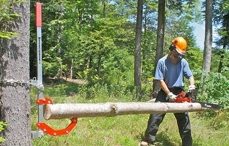 Woodchuck Tool, Quad 4 tools in 1!Log lifter,holder,roller,chainsaw,post remover by Woodchuck