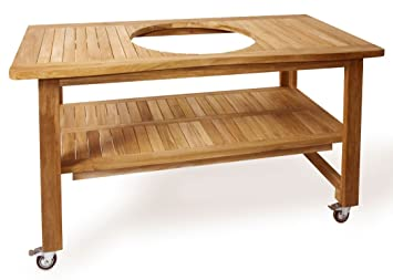 Outdoor Küche Kamado Joe : Kamadojoe eukalyptus grill tisch für 45 7 cm classic joe oder jedem