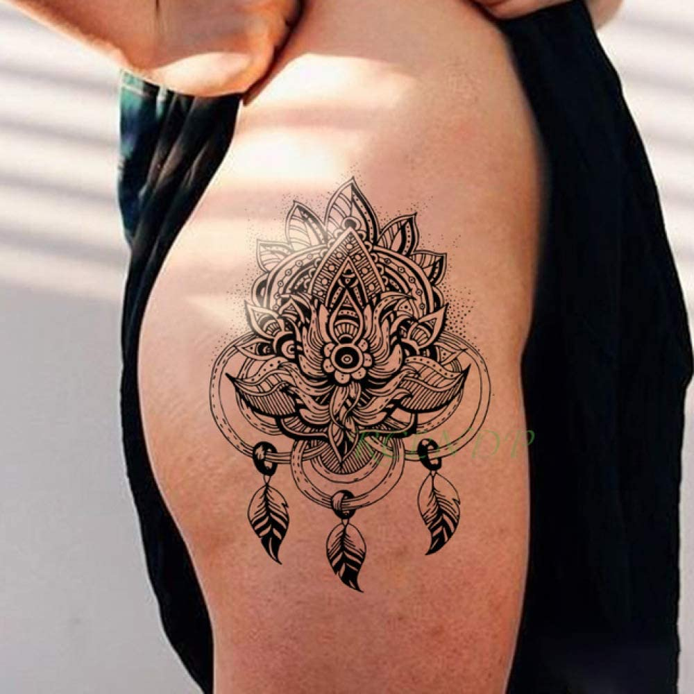 ljmljm 3 Unids Etiqueta Engomada del Tatuaje Impermeable Luna Sol ...