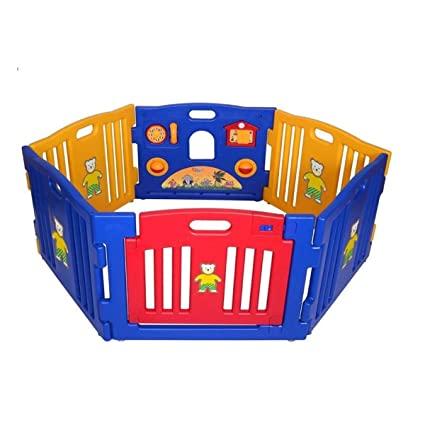 Amazon Com Anqi 6 Panels Portable Baby Playpen Kids Safety Play