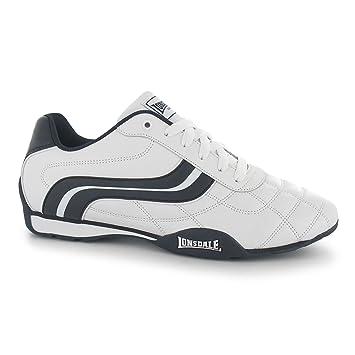 Lonsdale Camden Herren Turnschuhe Weiß/Marineblau Casual Sneakers Schuhe Schuhe