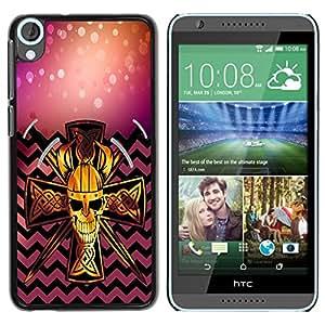 Dragon Case - FOR HTC Desire 820 - No happiness without action - Caja protectora de pl??stico duro de la cubierta Dise?¡Ào Slim Fit